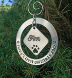 Puppy's First Christmas Pet Ornament-Ornament-Mod Jules