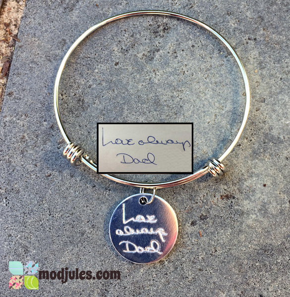 Engraved Actual Handwriting Bracelet-Bracelet-Mod Jules