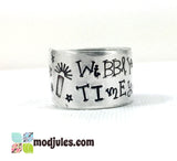 Hand Stamped Dr Who Wibbly Wobbly Timey Wimey Ring-Jewelry-Mod Jules