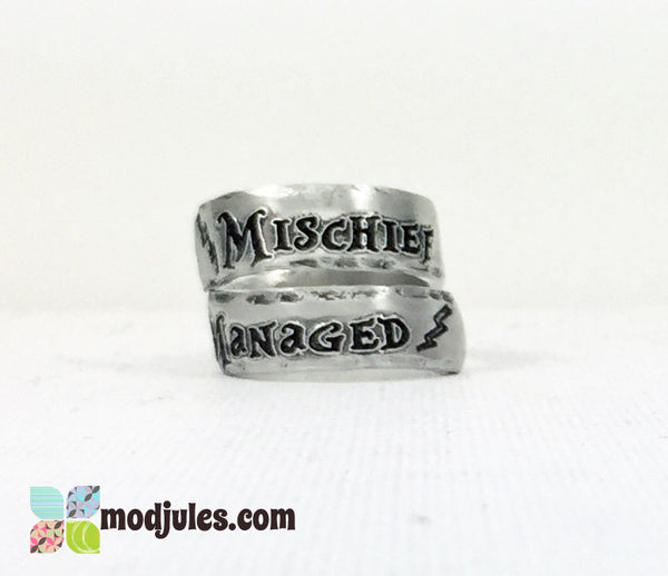 Harry Potter Inspired Mischief Managed Ring-Ring-Mod Jules