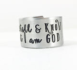 Be Still and Know that I am God, Psalm 46:10 Hand Stamped Christian Ring-Ring-Mod Jules