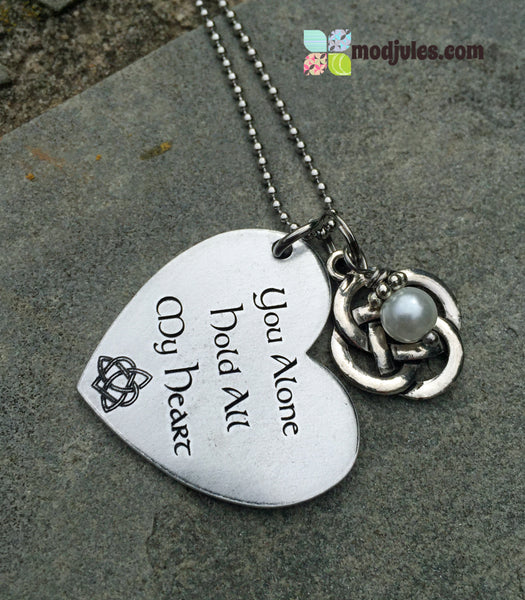 You Alone Hold All My Heart Celtic Heart Necklace-Necklace-Mod Jules