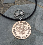 Outlander-Inspired Bronze Sassenach Dragonfly Necklace-Necklace-Mod Jules