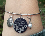 Love You to the Beach & Back Engraved Bangle Bracelet-Bracelet-Mod Jules