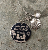 Love you to the Beach & Back Engraved Necklace-Necklace-Mod Jules