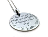 Confirmation Saint Necklace, St Edith Stein, Seek Truth Seek God-Necklace-Mod Jules