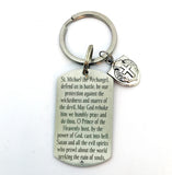 St. Michael Keychain, Catholic Prayer, Communion, Confirmation Gift, Deployment Gift For Him-Keychain-Mod Jules