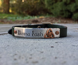 Dinna Fash Celtic Green or Black Leather Bracelet - Outlander-Inspired-Bracelet-Mod Jules