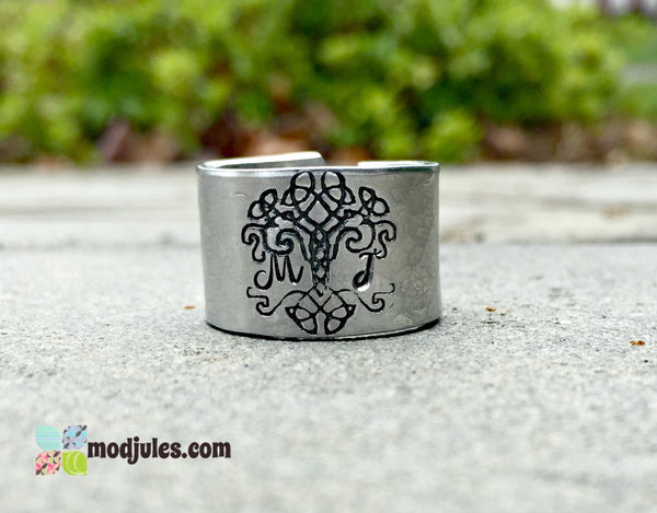 Personalized Celtic Tree of Life Ring-Ring-Mod Jules