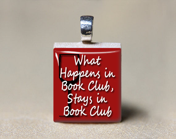 Ladies Book Club Wine Scrabble Tile Pendant Gift-Scrabble Pendant-Mod Jules