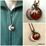 Copper Dragonfly in Amber Sassenach Necklace - Outlander-Inspired-Necklace-Mod Jules
