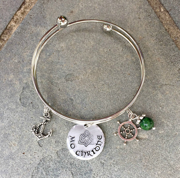 Voyager Mo Chridhe Outlander-Inspired Celtic Bangle Bracelet-Bracelet-Mod Jules