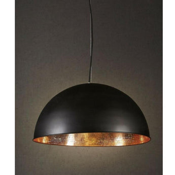 Alfresco Dome Black And Copper Pendant - The Lighting Lounge Australia