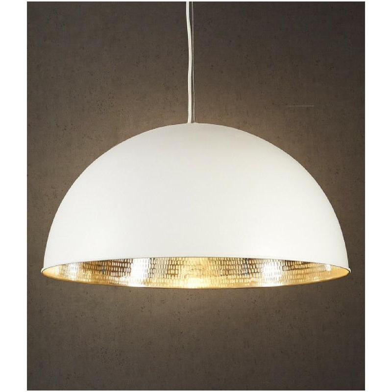 Alfresco Dome White Silver Pendant - The Lighting Lounge Australia