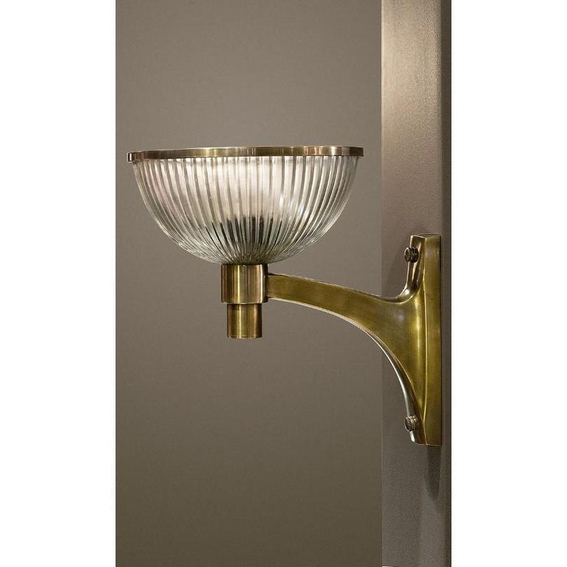 Astor Glass Wall Lamp Brass - The Lighting Lounge Australia