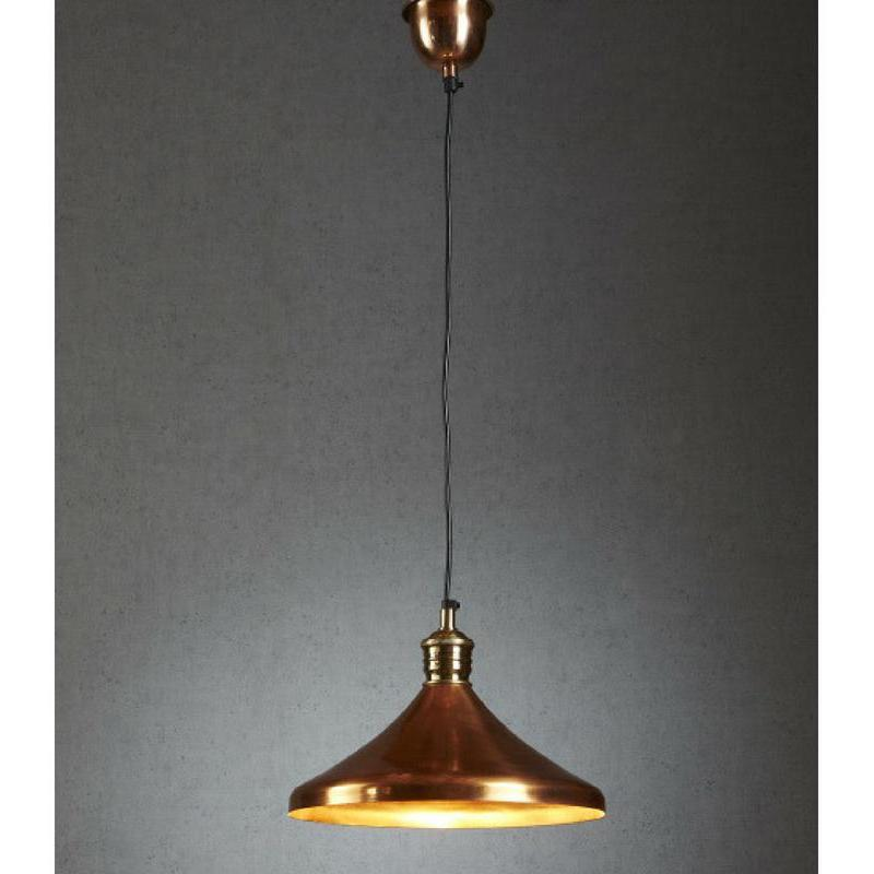 Barbados Hanging Lamp In Copper - The Lighting Lounge Australia