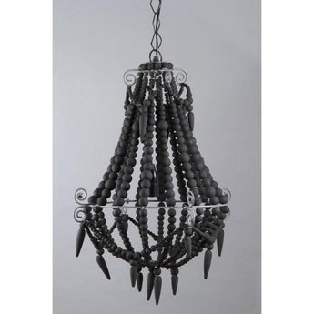 Beaded Chandelier Small Charcoal - The Lighting Lounge Australia
