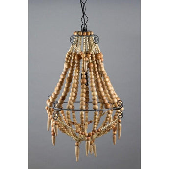 Beaded Chandelier Small Natural - The Lighting Lounge Australia