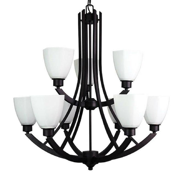 Bedford 9 Light Pendant Chandelier Antique Brown - The Lighting Lounge Australia