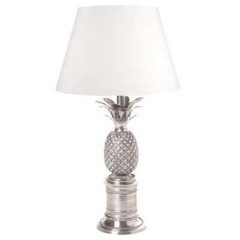 Bermuda Pineapple Table Lamp Base Antique Silver - The Lighting Lounge Australia