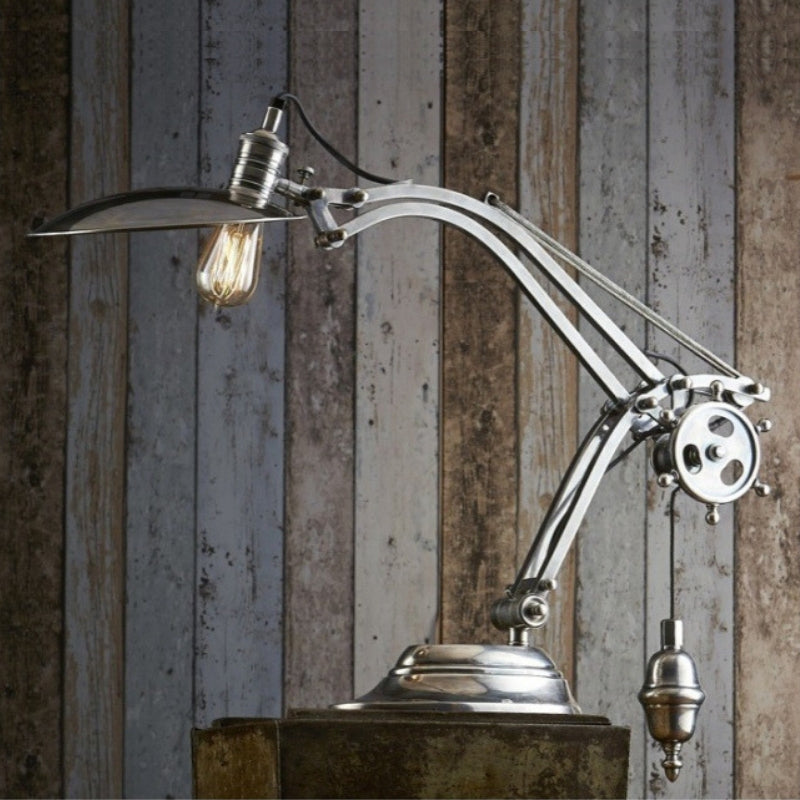 Bismarck Table Lamp Antique Silver - The Lighting Lounge Australia