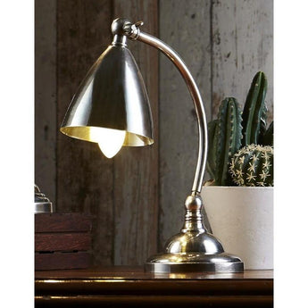 Brentwood Table Lamp Antique Silver - The Lighting Lounge Australia