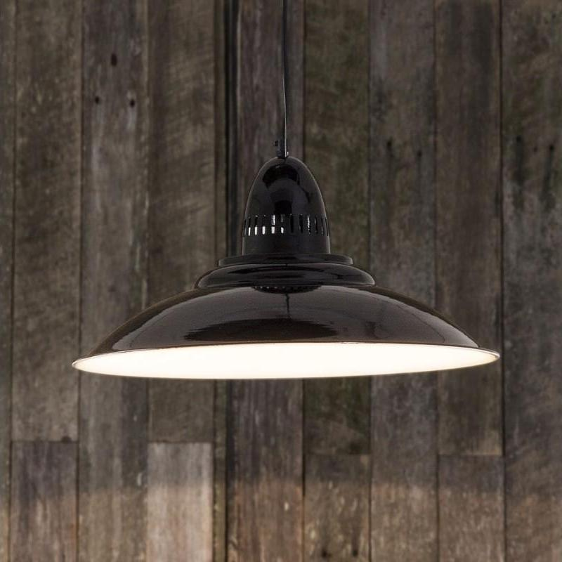 Brighton Hanging Lamp In Black - The Lighting Lounge Australia