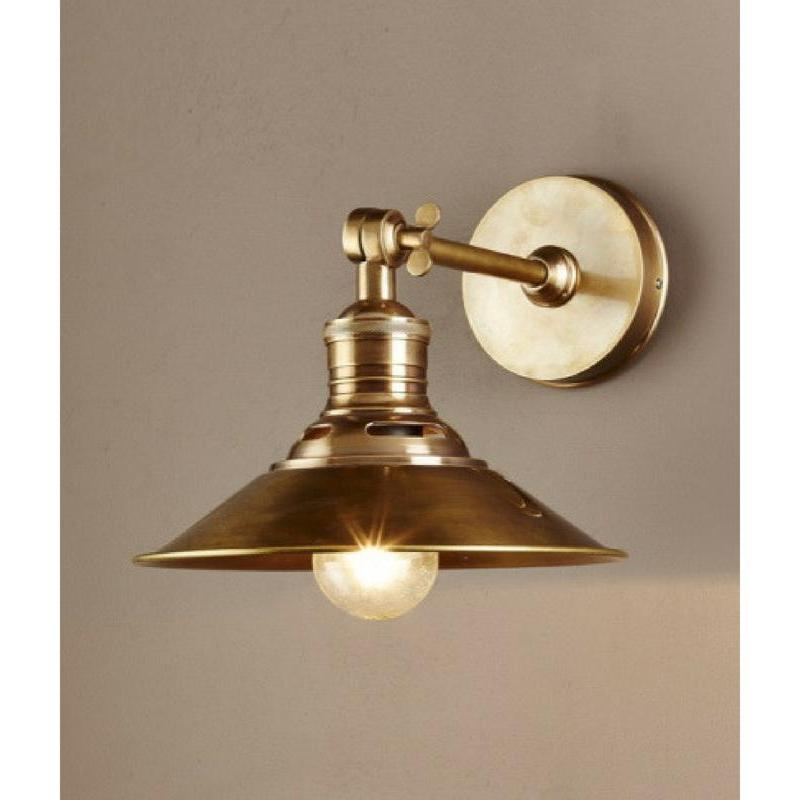 Bristol Wall Sconce Antique Brass - The Lighting Lounge Australia
