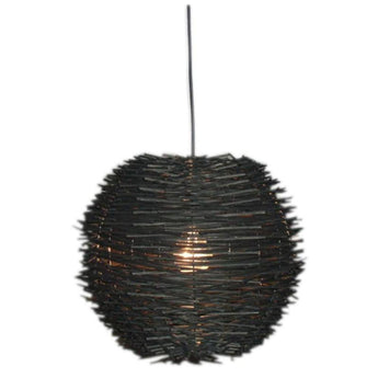 Butan Rattan Pendant Shade Chocolate Brown - The Lighting Lounge Australia