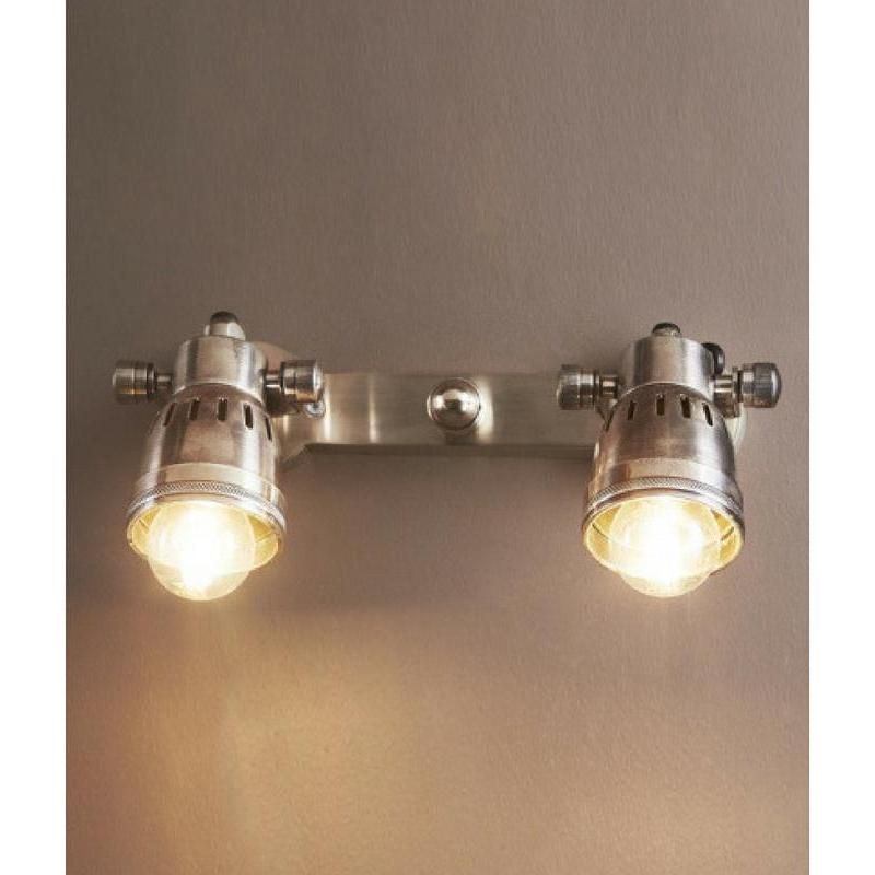 Carter Two Light Wall Lamp Antique Silver - The Lighting Lounge Australia