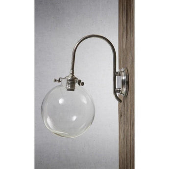 Catalina Glass Wall Lamp Antique Silver - The Lighting Lounge Australia