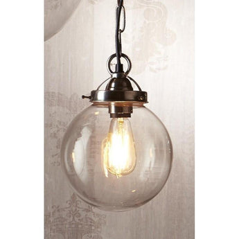 Celeste Small Hanging Lamp Antique Silver - The Lighting Lounge Australia
