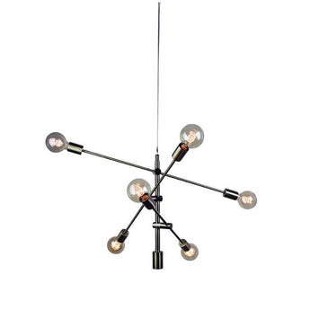 Chelsea 6 Light Pendant Antique Brass - The Lighting Lounge Australia