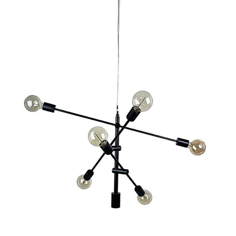 Chelsea 6 Light Pendant Matt Black - The Lighting Lounge Australia