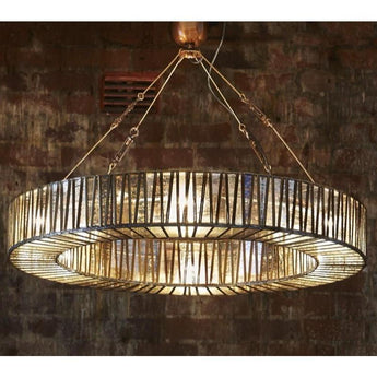 Chelton Glass Ring Hanging Lamp - The Lighting Lounge Australia
