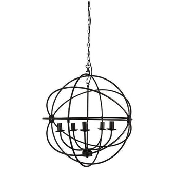 Columbus 5 Light Pendant Antique Rust - The Lighting Lounge Australia