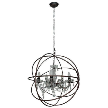 Columbus 5 Light Bling Pendant Antique Rust - The Lighting Lounge Australia