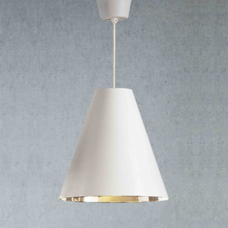 Conrad Hanging Lamp in White Silver - The Lighting Lounge Australia