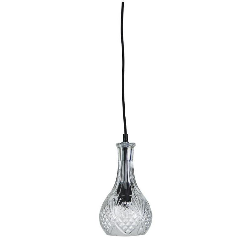 Decant 1 Single Pendant Clear Glass - The Lighting Lounge Australia