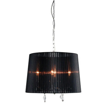 Dianna 4 Light Pendant Chrome And Black - The Lighting Lounge Australia