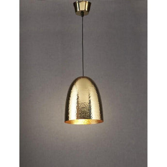 Dolce Beaten Brass Pendant - The Lighting Lounge Australia