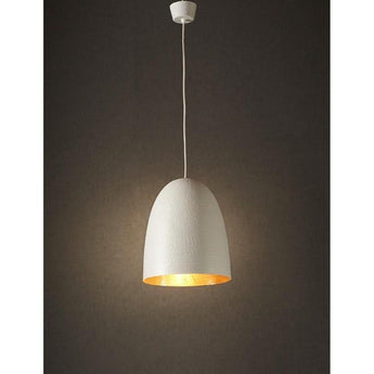 Dolce Beaten White Copper Pendant - The Lighting Lounge Australia