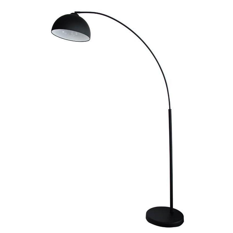 Dome Arc Floor Lamp Matt Black - The Lighting Lounge Australia