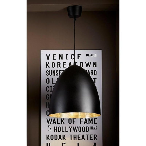 Egg Pendant Light Black Silver - The Lighting Lounge Australia