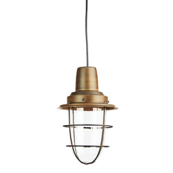 Flint Single Industrial Pendant Bronze - The Lighting Lounge Australia