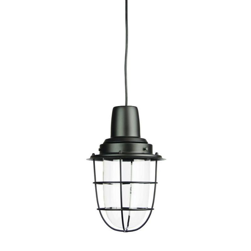Flint Single Industrial Pendant Matt Black - The Lighting Lounge Australia