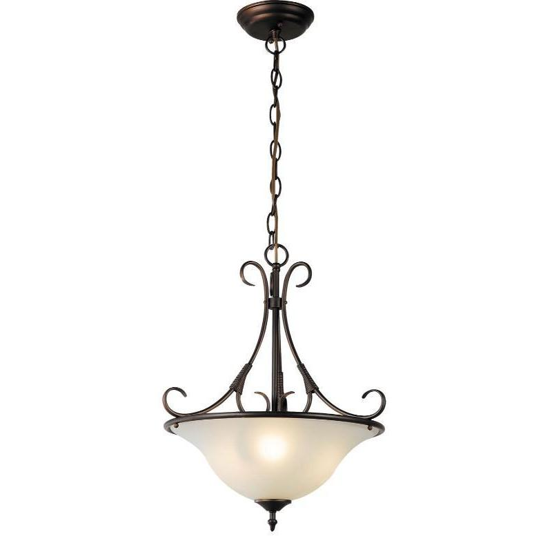 Gaston 3 Light Single Pendant Bronze - The Lighting Lounge Australia
