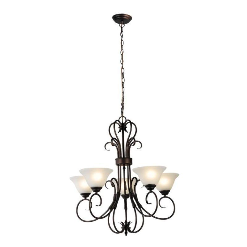 Gaston 5 Light Pendant Chandelier Bronze - The Lighting Lounge Australia