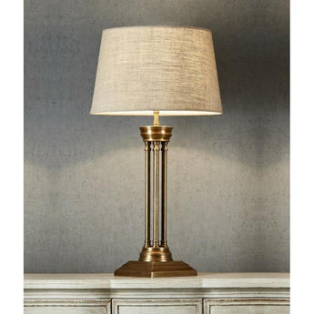Hudson Table Lamp Base Brass - The Lighting Lounge Australia