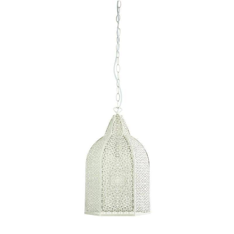 Istanbul Wrought Metal Antique White Pendant - The Lighting Lounge Australia